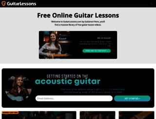guitarlessons.com screenshot