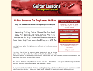 guitarlessonsforbeginnersonline.net screenshot