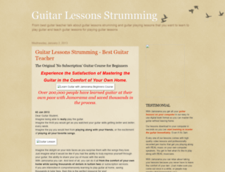 guitarlessonsstrumming.blogspot.com screenshot
