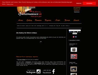 guitarmaniacs.de screenshot