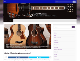guitarmusician.com screenshot