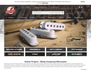 guitarproject.pl screenshot
