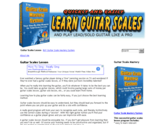guitarscaleslesson.com screenshot