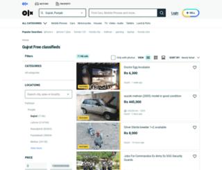 gujrat.olx.com.pk screenshot