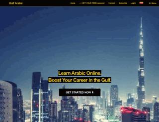 gulfarabic.com screenshot