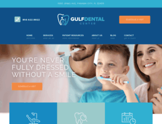 gulfdental.com screenshot