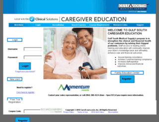 gulfsouthcare.care2learn.com screenshot