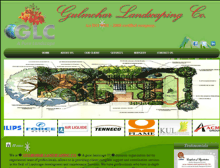 gulmoharlandscaping.com screenshot