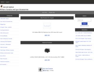 gunandsurplus.com screenshot