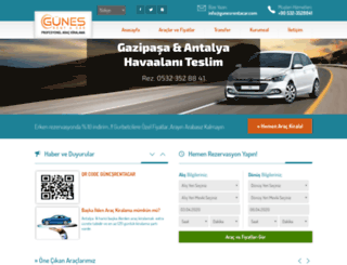 gunesrentacar.com screenshot