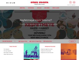gunessigorta.com.tr screenshot