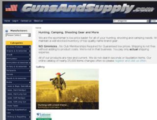 gunsandsupply.com screenshot