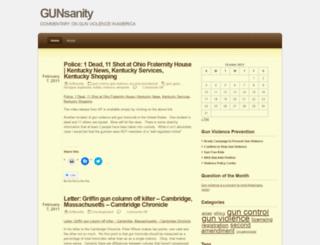 gunsanity.wordpress.com screenshot
