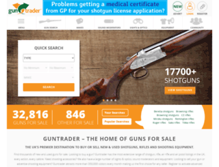guntrader.co.uk screenshot