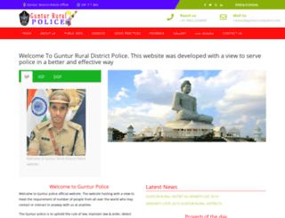 gunturruralpolice.com screenshot