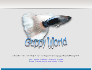 guppyworld.xooit.fr screenshot