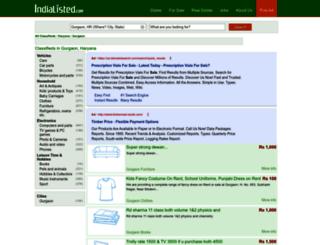 gurgaon.indialisted.com screenshot
