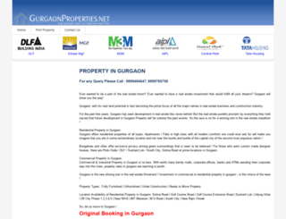 gurgaonproperties.net screenshot