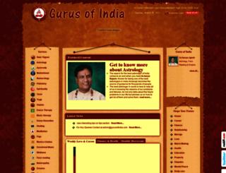 gurusofindia.com screenshot