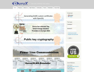 gurux.fi screenshot