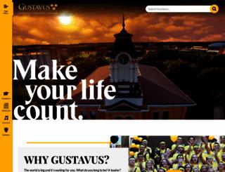 gustavus.edu screenshot