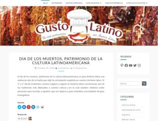 gustolatinogastronomia.com screenshot