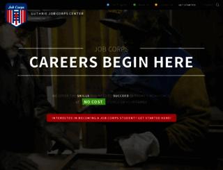 guthrie.jobcorps.gov screenshot
