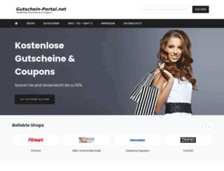 gutschein-portal.net screenshot
