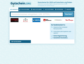 gutschein.org screenshot