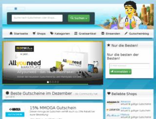 gutscheincodes.net screenshot