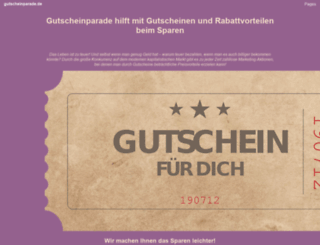 gutscheinparade.de screenshot