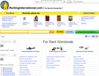 guyana.rentinginternational.com screenshot