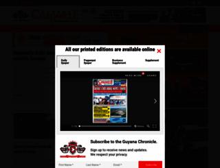 guyanachronicle.com screenshot