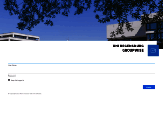 gw.uni-regensburg.de screenshot