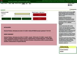 gwd.nfosigw.gov.pl screenshot