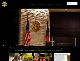 gwinnettcountysheriff.com screenshot