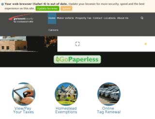 gwinnetttaxcommissioner.manatron.com screenshot