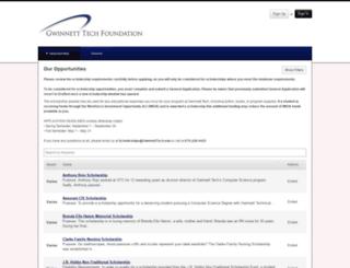 gwinnetttech.academicworks.com screenshot
