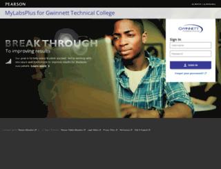 gwinnetttech.mylabsplus.com screenshot