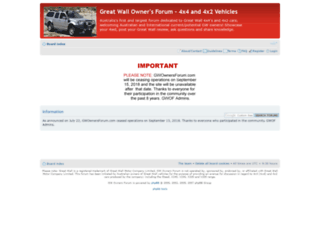 gwownersforum.com screenshot