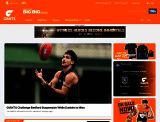 gwsgiants.com.au screenshot