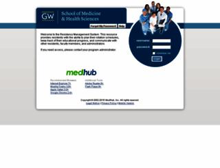 gwu.medhub.com screenshot