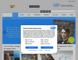 gwup.org screenshot