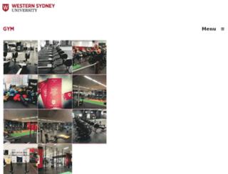 gym.westernsydney.edu.au screenshot
