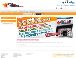 gymandfitness.quicksales.com.au screenshot