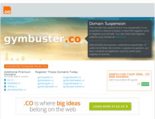 gymbuster.co screenshot