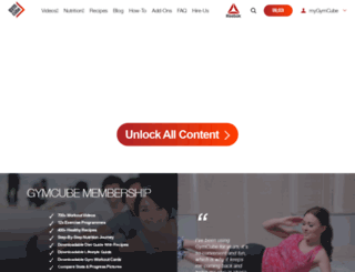 gymcube.com screenshot