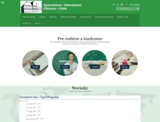 gymfilakovo.sk screenshot