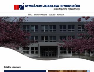 gymjh.cz screenshot