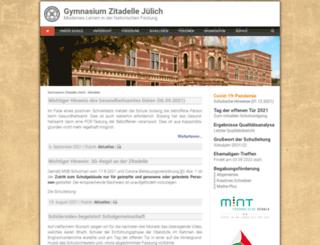 gymnasium-zitadelle.de screenshot
